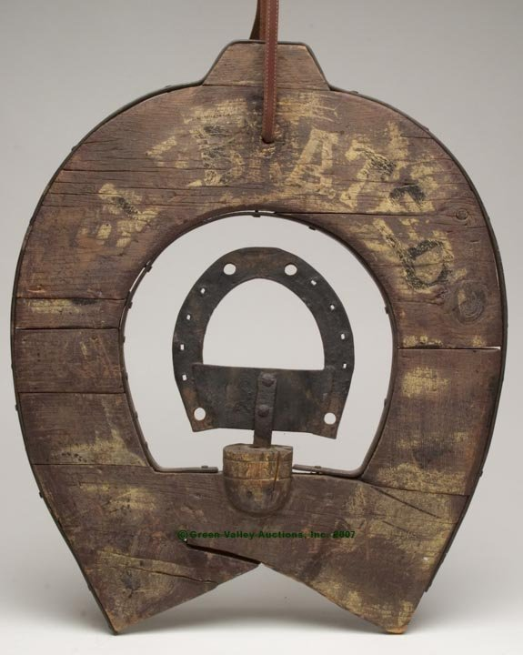 1080: AMERICAN PAINTED WOOD AND IRON FERRIER'S TRADE SI