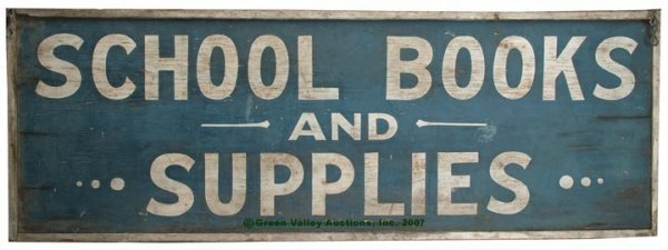 1081: AMERICAN PAINTED WOOD ADVERTISING SIGN, double si