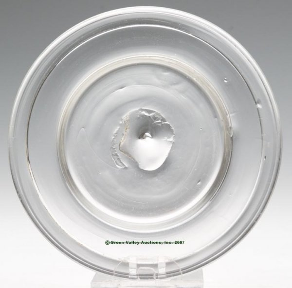 2001: LEE/ROSE NO. 1 CUP PLATE, free blown, colorless l