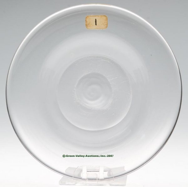 2002: LEE/ROSE NO. 1-X-1 CUP PLATE, free blown, colorle