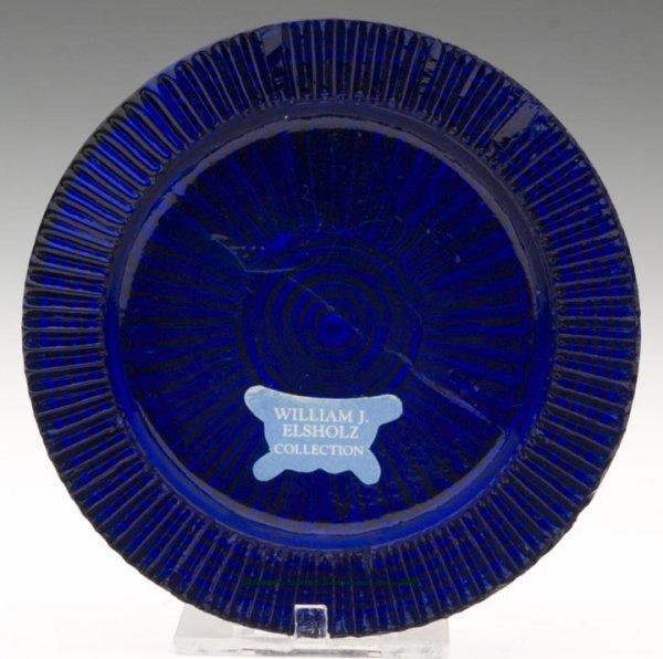 2007: LEE/ROSE NO. 13-C CUP PLATE, deep cobalt blue, pl