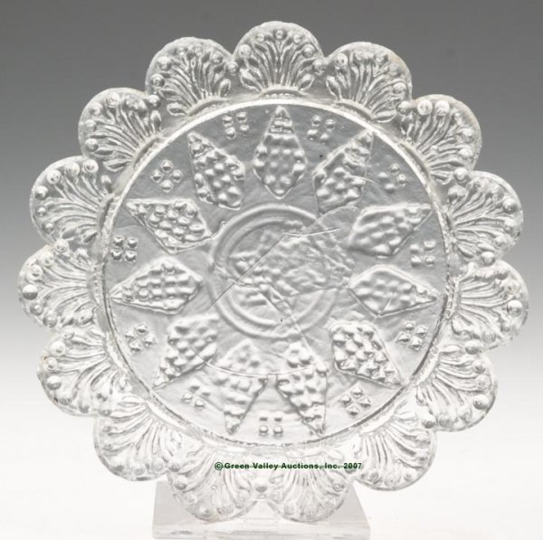 2010: LEE/ROSE NO. 26 CUP PLATE, colorless, center with