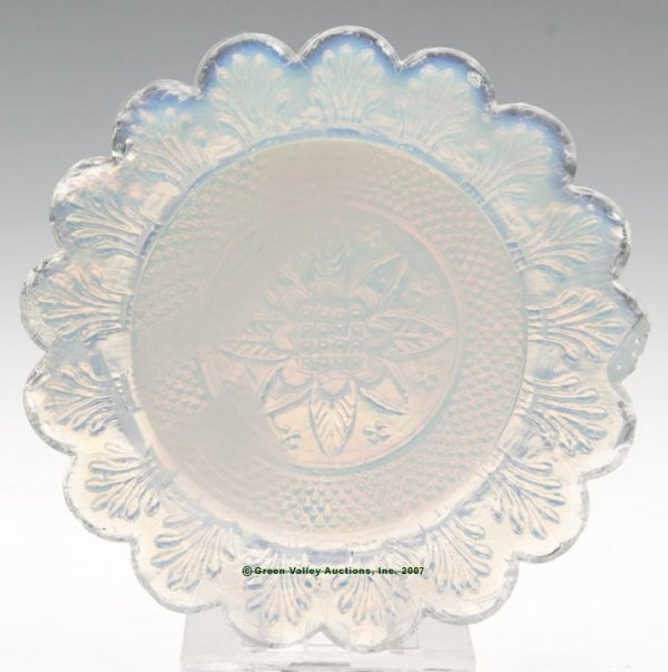 2014: LEE/ROSE NO. 37 CUP PLATE, opalescent, 17 even sc