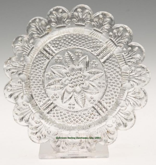 2018: LEE/ROSE NO. 41-A CUP PLATE, colorless, 17 even s