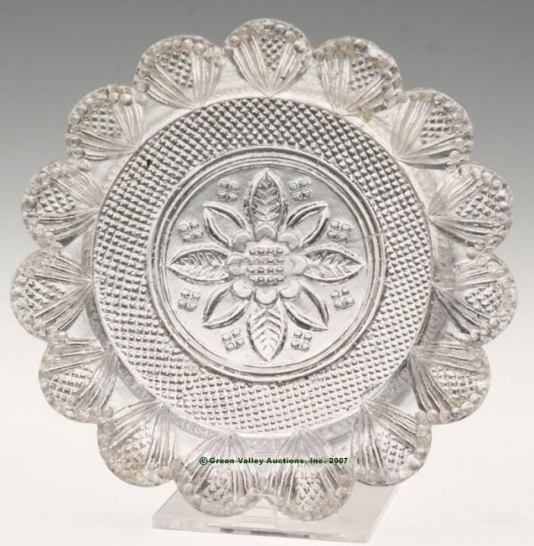 2019: LEE/ROSE NO. 42 CUP PLATE, colorless, 15 even sca