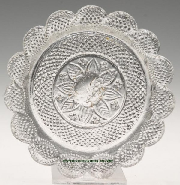2020: LEE/ROSE NO. 43-VP-FB CUP PLATE, colorless, fairl