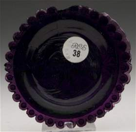 2072: LEE/ROSE NO. 127-A CUP PLATE, deep amethyst, very
