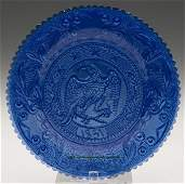 2372: LEE/ROSE NO. 661 CUP PLATE, brilliant medium blue