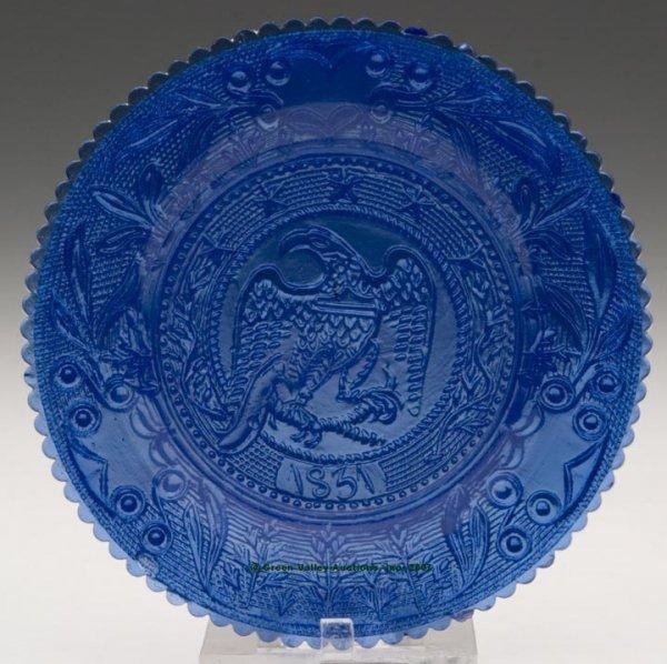 2372: LEE/ROSE NO. 661 CUP PLATE, brilliant medium blue