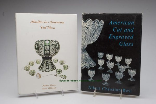 452: AMERICAN CUT GLASS REFERENCE VOLUMES, LOT OF TWO,
