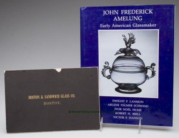 454: AMERICAN GLASS REFERENCE VOLUMES, LOT OF TWO, Lanm