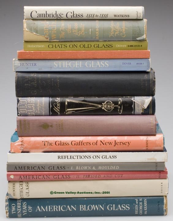 465: EARLY AMERICAN GLASS REFERENCE VOLUMES, LOT OF 14,