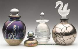 1002 CONTEMPORARY ART GLASS PERFUME BOTTLES LOT OF FO