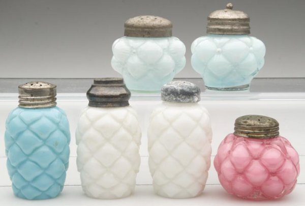 1517: CONSOLIDATED SALT SHAKERS - VARIOUS PATTERNS, LOT