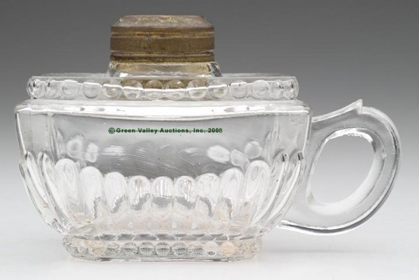 106: RIVERSIDE'S NAOMI FINGER LAMP,  kerosene period, c