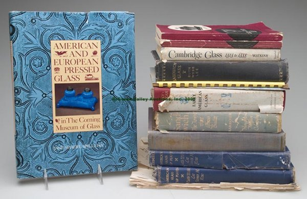 324: EARLY AMERICAN GLASS REFERENCE VOLUMES, LOT OF 14,