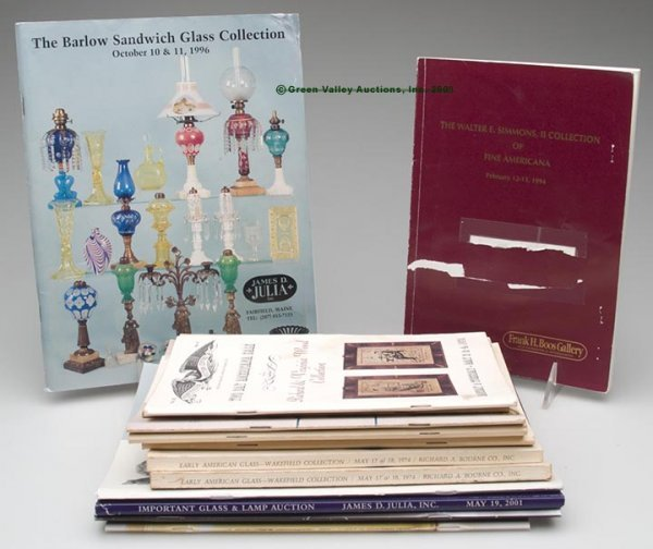 327: GLASS AUCTION CATALOGS, LOT OF 13,  most glass spe