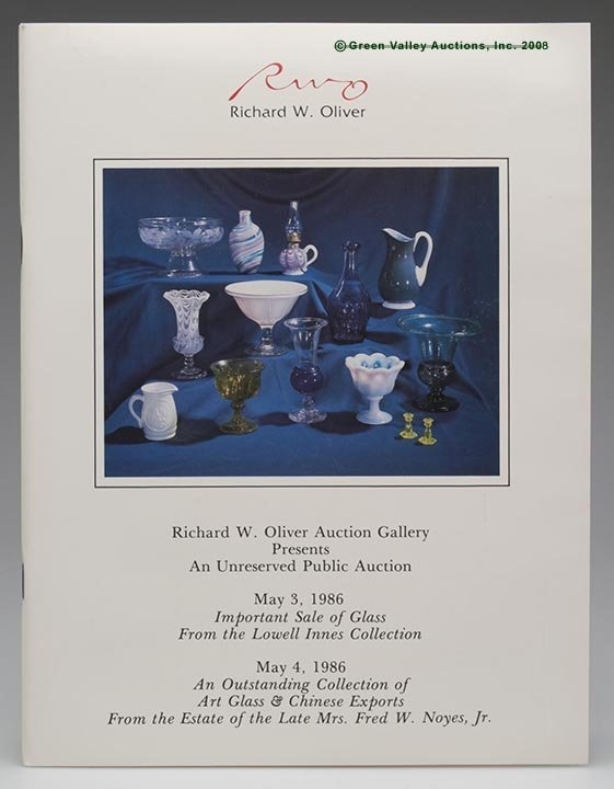 """328: LOWELL INNES AUCTION CATALOG,  """"Important Sale of"""
