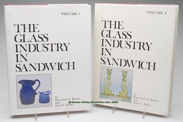 """333: SANDWICH GLASS REFERENCE VOLUMES, LOT OF TWO,  """"Th"""