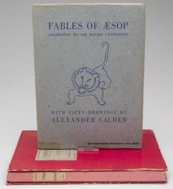 """1002: ALEXANDER CALDER ILLUSTRATED VOLUME,  """"Fables of"""