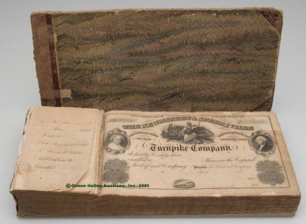 1005: VIRGINIA BOOK OF UNUSED STOCK CERTIFICATES,  for