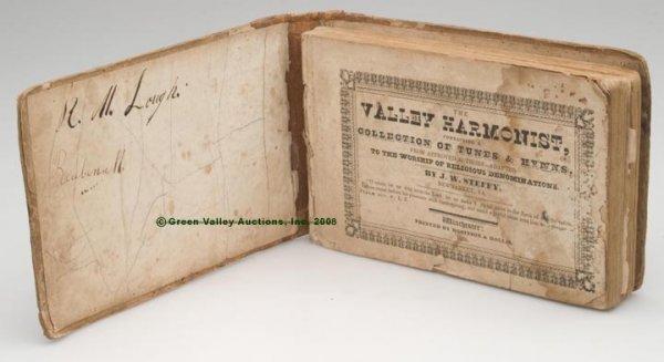 "1009: 1836 WINCHESTER, VA IMPRINT SONGBOOK,  ""The Valle"