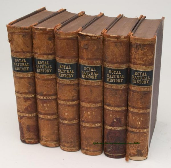 """1012: ILLUSTRATED NATURAL HISTORY SIX VOLUME SET,  """"The"""