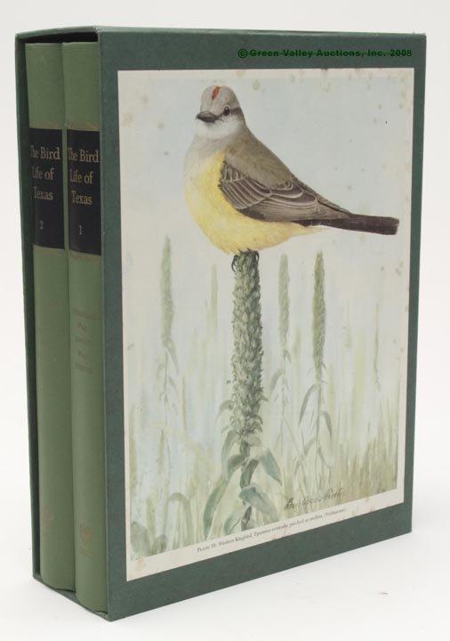 """1016: TEXAS ORNITHOLOGY TWO VOLUME SET,  """"The Bird Life"""
