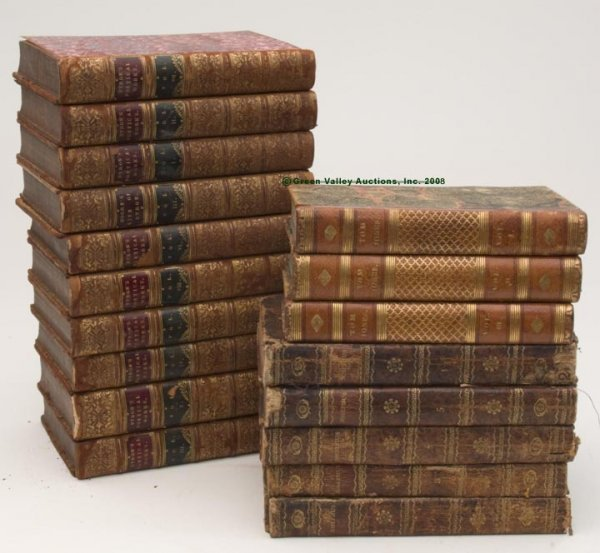 1018: VARIOUS LEATHER BOUND VOLUMES, LOT OF 18,  compri