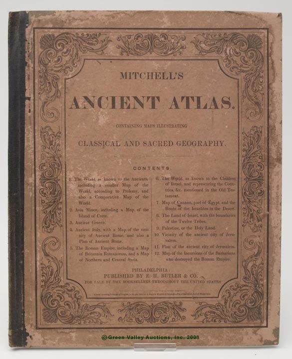 "1019: MITCHELL'S ANCIENT ATLAS,  ""Mitchell's Ancient At"