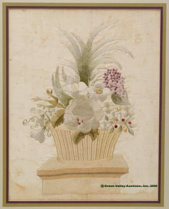 218: FREDERICK CO., VA SILK EMBROIDERY PANEL, depicting