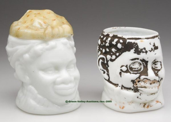 565: BLACK AMERICANA MAMMY AND PAPPY TOBACCO JARS, LOT