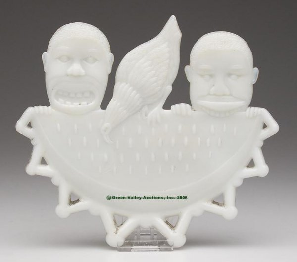 567: BLACK AMERICANA MEN EATING WATERMELON PLAQUE, opaq
