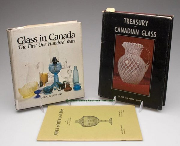 1003: CANADIAN GLASS REFERENCE VOLUMES, LOT OF THREE, U