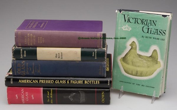 1008: CLASSIC AMERICAN GLASS REFERENCE VOLUMES, LOT OF