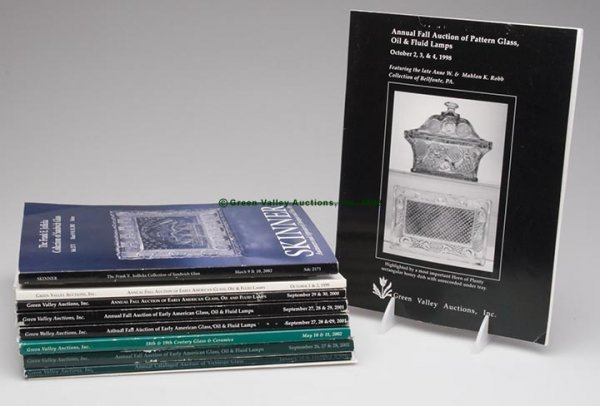 1011: GLASS AUCTION CATALOGS, LOT OF 13, including 11 G