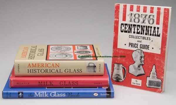 1014: HISTORICAL AND MILK GLASS REFERENCE VOLUMES, LOT