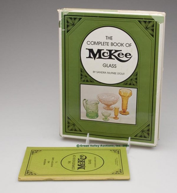 1019: MCKEE GLASS REFERENCE VOLUMES, LOT OF TWO, Stout'