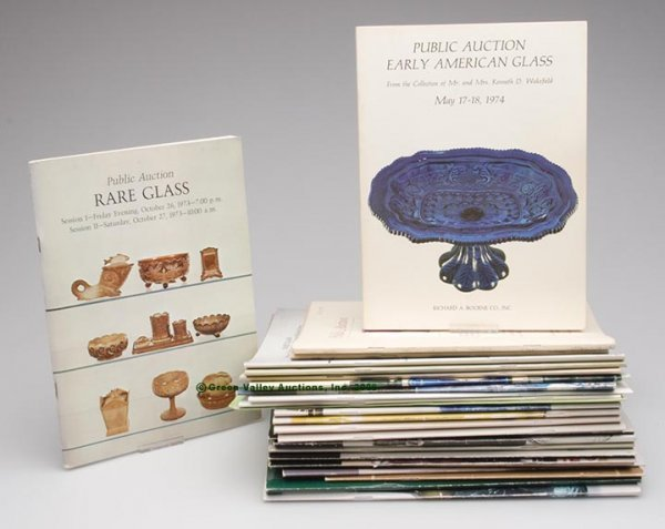 3: VARIOUS GLASS AUCTION CATALOGS, LOT OF 26, all diffe