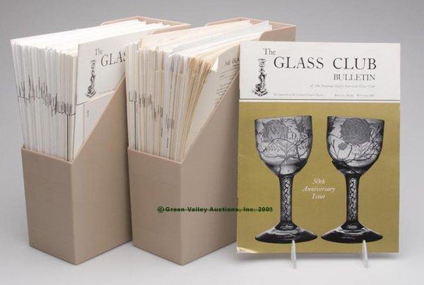 4: NATIONAL GLASS CLUB BULLETINS, NEAR COMPLETE SET, Nu