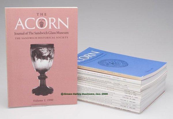 "5: SANDWICH GLASS JOURNALS, SET OF 14, ""The Acorn: Jour"