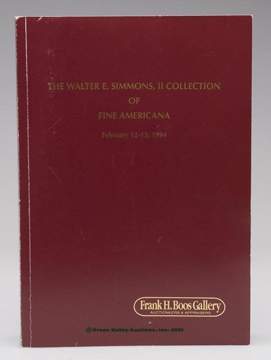 """6: WALTER SIMMONS AUCTION CATALOG, """"The Walter E. Simmo"""