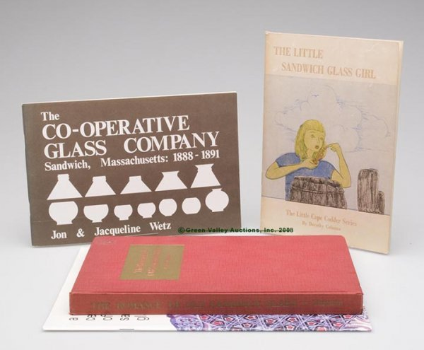 11: SANDWICH GLASS REFERENCE VOLUMES, LOT OF FOUR, incl