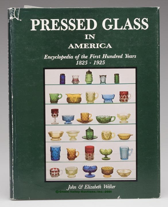 """12: AMERICAN PRESSED GLASS REFERENCE VOLUME, """"Pressed G"""