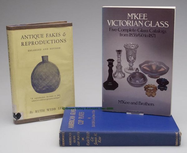 13: AMERICAN GLASS REFERENCE VOLUMES, LOT OF THREE, Lee