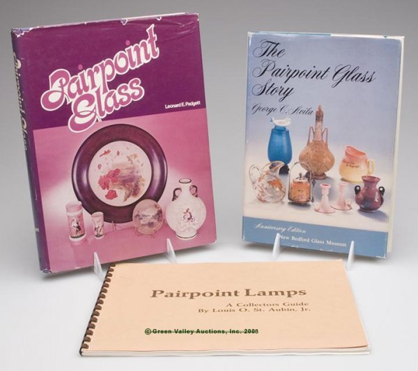 14: PAIRPOINT GLASS REFERENCE VOLUMES, LOT OF THREE, Au