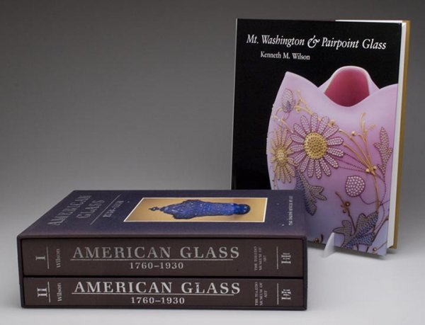 17: KEN WILSON AMERICAN GLASS REFERENCE VOLUMES, LOT OF
