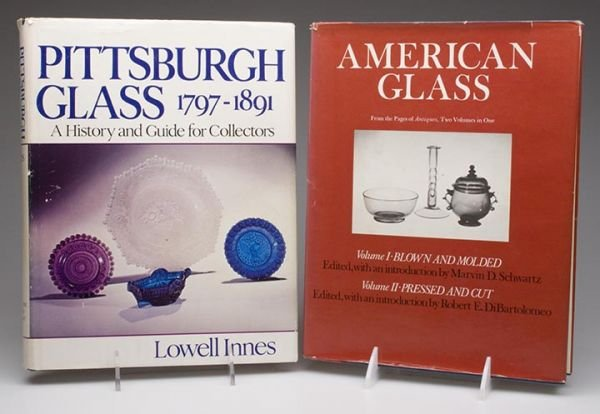 18A: AMERICAN GLASS REFERENCE VOLUMES, LOT OF TWO