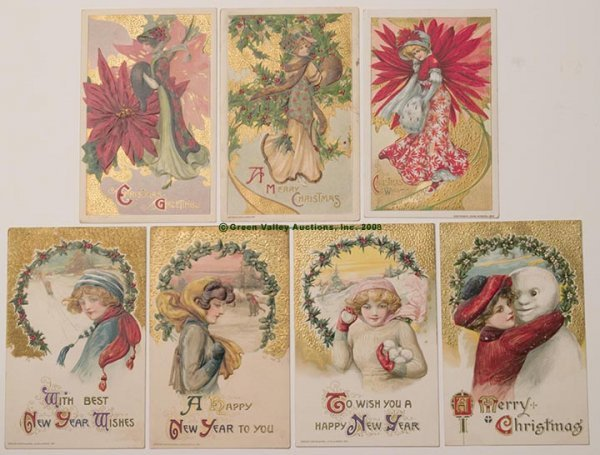 601: WINSCH CHRISTMAS AND NEW YEAR POST CARDS, LOT OF S