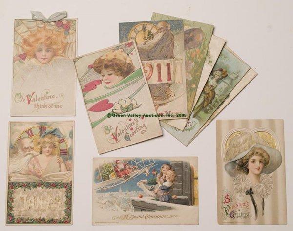603: WINSCH VARIOUS HOLIDAY POST CARDS, LOT OF TEN, inc